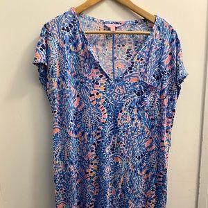 Lilly Pulitzer mosaic print tshirt dress size L